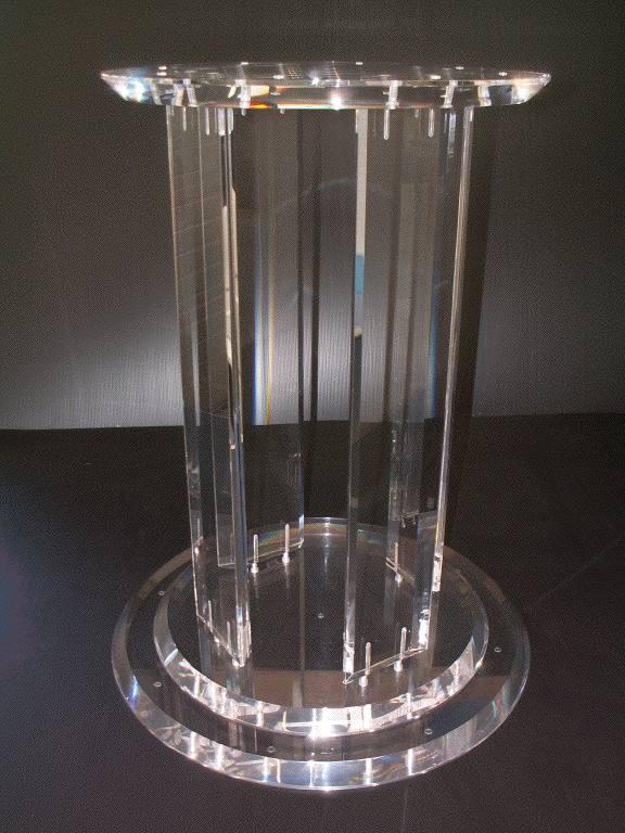 Chaudronnerie plastique for Pied pour table basse en verre